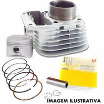 Kit Motor Pistão Camisa Aneis Honda Cg 125 Cargo Fan Es Ks #
