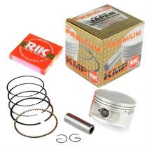 Pistão Kit C/ Anéis Moto Honda Nxr150 Bros Kmp Rik 2,00mm