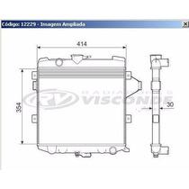 12229 Radiador De Agua Opala /caravan/c-10 83/ 4cil