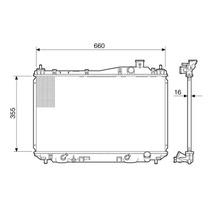 Radiador Honda Civic 1.7 16v 01>05 Ac Cambio Automatico