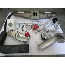 Kit Turbo Opala 6 Cilindros Pulsativo Mufla Weber Ou 2e /3e