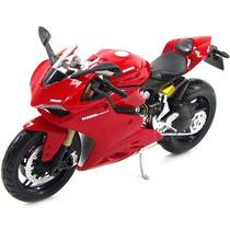 Moto Ducati 1199 Panigale Miniatura Coleçao Escala 1 12