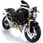 Miniatura De Moto Ducati Monster 696 Preta 1:12 Maisto