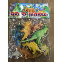 Dinossauros De Borracha Em Miniatura Com 10 Peças