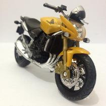 Miniatura Moto Honda Cb 600 F Hornet Amarela Em Metal 1/18