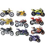 Kit Com 10 Miniaturas Motos 1/18- 12 Cm. Lacradas