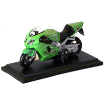 Miniatura Moto Kawasaki Ninja Zx-12r Verde 1/18