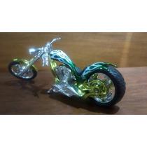 Miniatura Moto Chopper 1/18 Unica No Ml Frete Grátis!!!