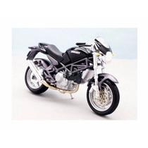 Miniatura De Moto Ducati Monster S4 Preta 1:18 Maisto
