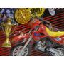 Mini Motocicleta De Dedo Trofeu E Medalha