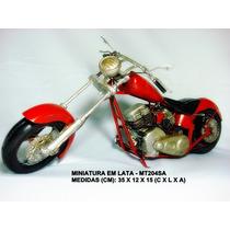 Réplica Moto Antiga Estilo Artesanal Rústico Vintage Mt204sa