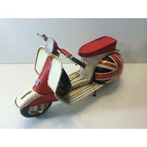 Miniatura Lata Moto Vespa Lambreta Inglaterra Uk Reino Unido