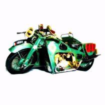 Réplica Moto Antiga Estilo Artesanal Rústico Vintage Mt205sa