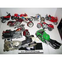 Lote Com 9 Miniaturas De Motos Rm Colecionaveis