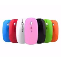 Novo Mouse Sem Fio Wireless Ultra Slim - Rosa Ou Vermelho