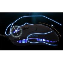 Mouse Gamer Led 6 Botões Usb 2.0 Iluminação Led Azul