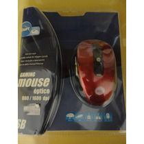 Mouse Otico Óptico 800/1600 Dpi Usb Scroll Gaming Novo