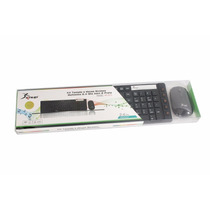 Kit Teclado E Mouse Wireless S/ Fio C/ Mini Receptor Usb