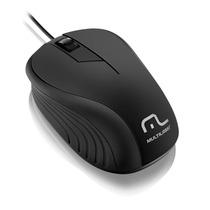 Mouse Emborrachado Mo222 - 1200dpi, Plug&play, Com Fio