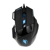 Mouse Gamer Macro Usb Black Hawk 2400dpi Fortrek Om703