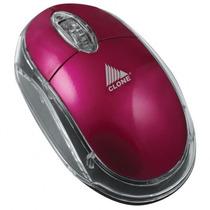 Mouse Usb Pink Resolução De 1000cpi Ergonômico