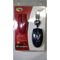 Mouse Óptico 800dpi Mini Navigator Genius Com Capa De Brinde