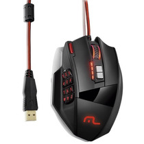 Mouse Gamer Macro Warrio Multilaser 18 Botões Mo206 4000dpi