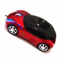 Mouse Sem Fio Mini Carro Com Led 2.4g Wireless 10m Usb