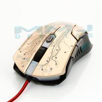 Mouse Gamer Óptico Usb 3600 Dpi 6 Botões Função Macro