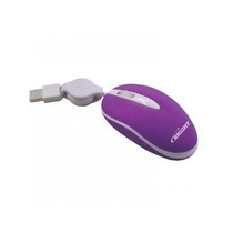 Mini Mouse Brasil Retrátil Roxo Usb Bright Óptico 800dpi