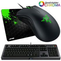 Mouse Razer Deathadder Chroma 10000dpi + Cyclosa Razer + Pad