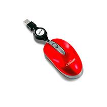 Mini Mouse Brasil Retrátil Vermelho Usb Bright Óptico 800dpi
