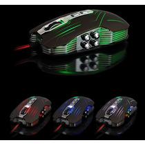Mouse Gamer Sword Master Laser/ 2400dpi/ Macro/ 9 Botões