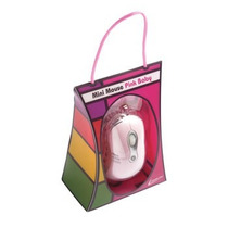 Mouse 1000dpi Mini Rosa Baby 3447 Conector Usb Leadership -
