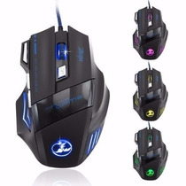 Mouse 3200 Dpi Usb Led Gamer 7 Botões League Of Legends T18