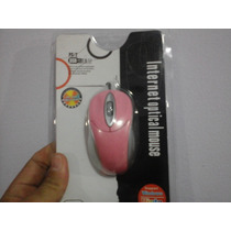 Mouse Óptico Usb 1000 Dpi Rosa / Notebook / Netbook / Pc