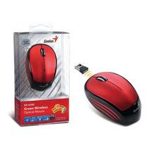 Mouse Wireless Vermelho Usb Infravermelho 1200 Dpi Genius