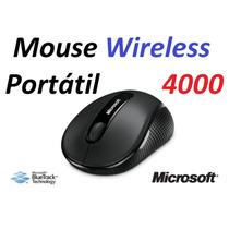 Mouse Microsoft Wireless 4000 - Sem Fio - Original Bluetrack