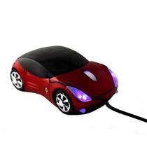 Mouse Óptico Com Fio Personalizado Carrinho 4 Leds