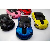 Mouse Optico Sem Fio Usb Receptor Carro Porsche Cores-azul