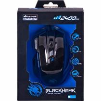 Mouse Gamer Óptico Usb Black Hawk 2400dpi Om703 Fortrek