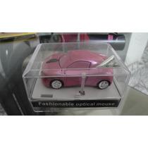 Mini Mouse Optico Com Fio Modelo Carrinho Rosa Usb