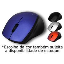 Mouse Óptico Sem Fio Dobrável Adaptador Wireless 2.4 Ghz Usb