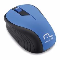 Mouse Sem Fio Wireless Usb Nano 2.4ghz Multilaser Mo216 Azul