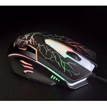 Mouse Gamer Iluminado Led 6 Botões 1600 Dpi Usb Frete Grátis