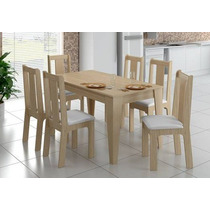Conjunto Mesa E 6 Cadeiras Genova Clara Madellegno
