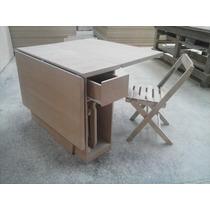 Mesa Dobravel;mesa Com Cadeiras;mesa Extensiva