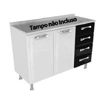 Balcao Itatiaia Premium 2p 4g S/ Tampo - Ig3g4-d