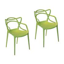 Conjunto 2 Cadeiras Funny Em Polipropileno Verde