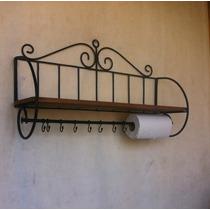 Paneleiro E Porta Temperos Rustico Em Ferro